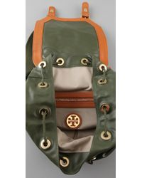 Tory Burch - Green Pierson Canvas Backpack - Lyst