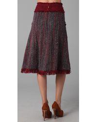 Tory Burch - Brown Eckly Tweed Skirt - Lyst