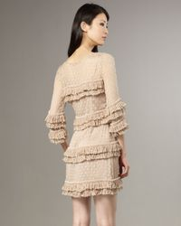 Tracy Reese - Natural Beaded-fringe Shift Dress - Lyst