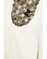 Victoria Beckham - White Embellished Stretch-crepe Gown - Lyst