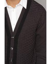 Freshjive - Gray The Modman Cardigan in Dark Grey for Men - Lyst
