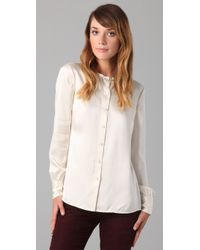 Tory Burch | White Waverly Blouse | Lyst