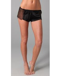 La Fee Verte | Black Web Lace Shorts | Lyst