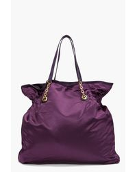 Lanvin | Purple Satin Tote | Lyst