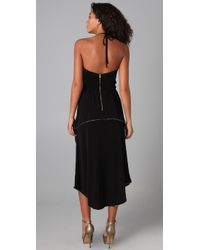 Marc By Marc Jacobs - Black Lurex Piped 70s Disco Dress - Lyst