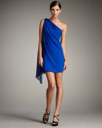 Notte by Marchesa | Blue Draped Grecian Dress | Lyst