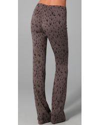 Rebecca Taylor | Brown Leopard Print Flare Pants | Lyst