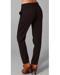 See By Chloé - Black Low Waist Low Slung Drawstring Jogging Pants - Lyst