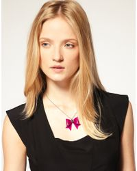 Ted Baker | Purple Bow Necklace | Lyst