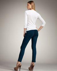 J Brand | 811 Mid-rise Skinny Twill Jeans, Riviera Blue | Lyst