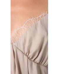 Obakki - Natural Rosa Cross Front Dress - Lyst