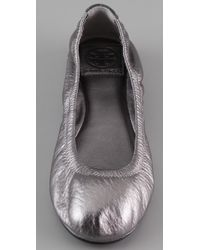 Tory Burch - Eddie Metallic Ballet Flats - Lyst