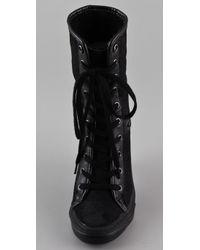 Ash - Black Panda High Heel Sneakers - Lyst