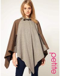 ASOS Collection | Brown Asos Cape in Heritage Check | Lyst