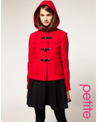 ASOS Collection - Red Asos Short Wool Duffle Coat - Lyst