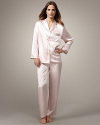 Neiman Marcus | Classic Silk Pajamas, Light Pink | Lyst