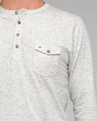 Obey - White Speckled Henley for Men - Lyst