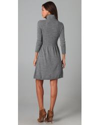 Shoshanna | Gray Turtleneck Sweater Dress | Lyst