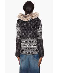 Smythe | Gray Fair Isle Hooded Jacket | Lyst