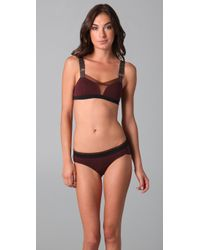 VPL | Brown Stripe B Bra | Lyst