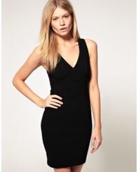 ASOS Collection | Red Asos Petite Exclusive Bodycon Dress with Twist Back | Lyst