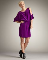 Elizabeth and James | Purple Penelope Silk Dress | Lyst