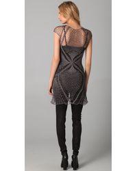 Jen Kao - Gray Lace Wing Cross Dress - Lyst