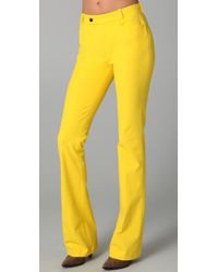 JOSEPH | Yellow Rocket Boot Cut Pants | Lyst