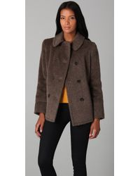 Marc By Marc Jacobs | Brown Jet Set Alpaca Jacket | Lyst