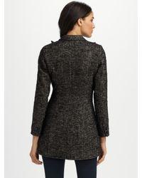 Smythe - Black Tweed Riding Jacket - Lyst