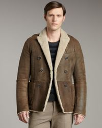Valentino Brown Shearling Jacket for men