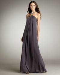 T-bags | Gray Rope Halter Gown | Lyst