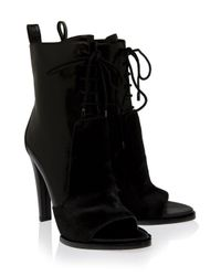 Alexander Wang | Black Josephine Lace Up Ankle Boots | Lyst