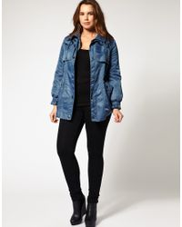 ASOS Collection - Blue Asos Curve Exclusive Airforce Parka - Lyst