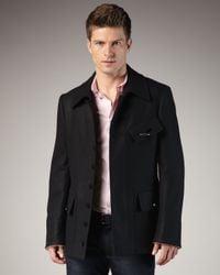 Alexander McQueen - Black Cashmere and Wool Chevron Jacket for Men - Lyst