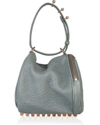 Alexander Wang | Blue Angela Textured-leather Bag | Lyst