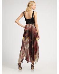 Alice + Olivia | Black Cassidy Asymmetric Dress | Lyst