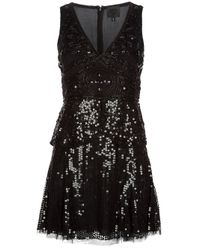 Anna Sui   Black Deco Sequin Dress   Lyst
