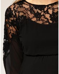 ASOS Collection - Black Asos Maternity Lace Top Batwing Dress - Lyst