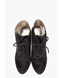 Belle By Sigerson Morrison   Black Calf-hair Lace-up Ankle Boot   Lyst
