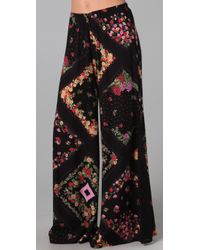 Daughters of the Revolution | Black Floral Bell Bottom Pants | Lyst