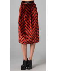 Marc By Marc Jacobs | Red Jagz Velvet Skirt | Lyst