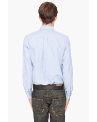 Shades of Grey by Micah Cohen | Blue Standard Button Down Shirt for Men | Lyst