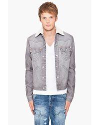 True Religion | Gray Jimmy Sherpa Jacket for Men | Lyst