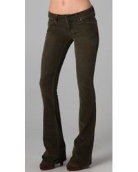 Vince - Brown Flare Corduroy Pants - Lyst