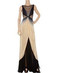 Zac Posen - Natural Ombré Silk Gown - Lyst