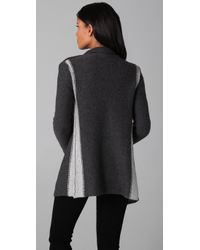 James Perse | Gray Striped Cardigan | Lyst