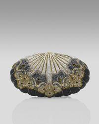 Judith Leiber | Metallic Black Sea Shell Minaudiere | Lyst