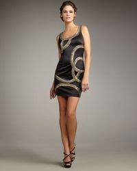 Mandalay | Black Arced Beaded Dress | Lyst