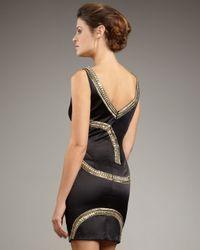 Mandalay - Black Arced Beaded Dress - Lyst